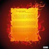 Entwurf der abstrakten Schablone und der Probe im Feuer Lizenzfreie Abbildung