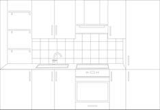 Entwurf der Küche Stockfotografie