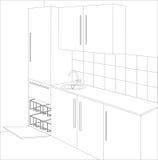 Entwurf der Küche Lizenzfreies Stockbild