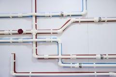 Entwurf der pipelinewith Kunststoffrohre Stockbild
