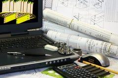 Entwurf des Druckbehälters Stockbild