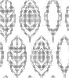 Entwurf für das Stricken Nahtloses geometrisches Muster mit dekorativen Blättern Vektorvorlage ist- zum Download betriebsbereit stock abbildung