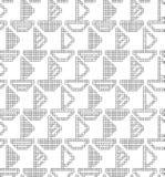 Entwurf für das Stricken Nahtloses geometrisches Muster mit dekorativen Booten, Schiffe vektor abbildung