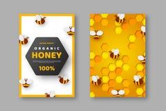 Entwurf f?r Imkerei und Honigprodukt vektor abbildung