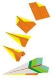 Entwurfpapierflugzeug Stockfotos