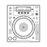 Entwurfs-DJ-CD-Player Lizenzfreie Stockbilder