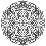 Entwurfs-Mandala für Malbuch lizenzfreies stockfoto