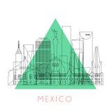 Entwurfs-Mexiko-Skyline Stockfoto