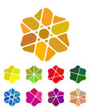 Entwurfsblumen-Logoelement. Buntes abstraktes patt stock abbildung