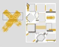 Entwurfshintergr?nde f?r Social Media-Fahne E Vektorabdeckung Modell f?r pers?nliches Blog oder Gesch?ft lizenzfreie abbildung