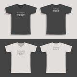 Entwurfsschablone das T-Shirt der Männer Stockbild