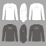 Entwurfsschablone das T-Shirt der Männer Lizenzfreies Stockfoto