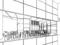Entwurfsskizze eines Innenraums Stockfotografie