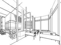 Entwurfsskizze eines Innenraums Lizenzfreie Stockfotos