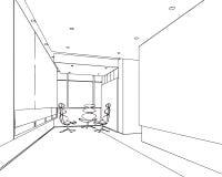 Entwurfsskizze eines Innenraums Stockfotos