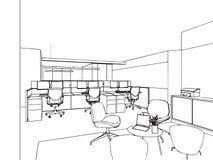 Entwurfsskizze eines Innenraums Lizenzfreie Stockbilder