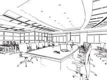 Entwurfsskizze eines Innenraums Lizenzfreies Stockfoto