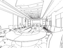 Entwurfsskizze eines Innenraums Lizenzfreies Stockbild