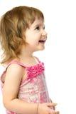 Entzückend, ein Einjahresmädchen lachend stockfotografie