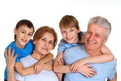 Entzückende Familie, die eine gute Freizeit hat Lizenzfreies Stockfoto
