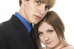 Entzückende jugendlich Paare Stockfoto