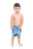 Entzückende junge Jungenaufstellung Lizenzfreie Stockbilder