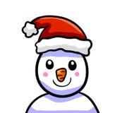 Entzückende Santa Hat Snowman vektor abbildung
