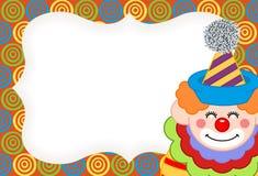 Entzückender glücklicher Clownaufkleber vektor abbildung