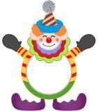 Entzückender glücklicher Clownrahmen lizenzfreie abbildung