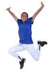 Entzückender jugendlich Sieg-Tanz stockfotos