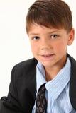 Entzückender Junge in der Klage Lizenzfreies Stockfoto