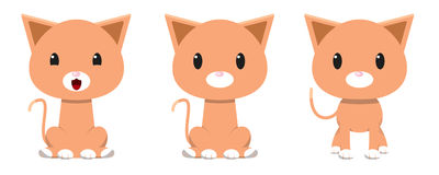 Entzückender Katzencharakter Lizenzfreie Stockfotografie