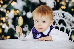 Entzückender Kinderjunge Lizenzfreies Stockbild