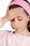 Entzückender Mädchen Whitthermometer Lizenzfreie Stockbilder