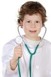 Entzückender zukünftiger Doktor Lizenzfreie Stockfotos