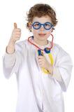 Entzückender zukünftiger Doktor Lizenzfreies Stockbild