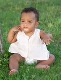 Entzückendes African-americanschätzchen stockfotografie