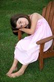 Entzückendes altes Fünfjahresmädchen Lizenzfreie Stockfotos