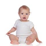 Entzückendes blondes Baby in der Unterwäsche Lizenzfreie Stockfotos
