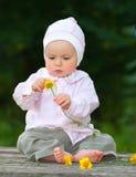 Entzückendes einjähriges Schätzchen Stockfoto