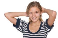 Entzückendes jugendlich Mädchen Lizenzfreie Stockfotografie