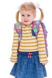 Entzückendes kleines blondes Schulmädchen Lizenzfreies Stockfoto