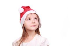 Entzückendes kleines Mädchen in der Weihnachtszeit Stockbilder