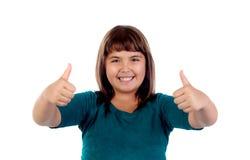 Entzückendes Mädchen, das O Lizenzfreie Stockbilder