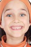 Entzückendes Mädchenlächeln stockbilder