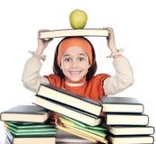 Entzückendes Mädchenstudieren Lizenzfreies Stockbild