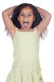 Entzückendes verärgertes Mädchen Stockbilder