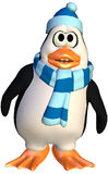 Entzückender Pinguin Stockfoto