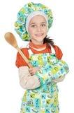 Entzückender zukünftiger Koch Stockfoto