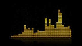 Entzerrerstangen-Frequenzhintergrund 4K stock video footage
